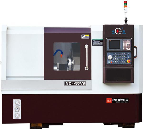 XC-400V8斜床身高速八工位伺服刀塔机